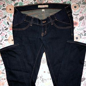 Like New!! J Brand Dark Wash Maternity Jeans